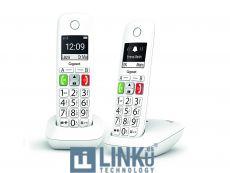 GIGASET TELEFONO DECT E290 TECLAS GRANDES WHITE DUO